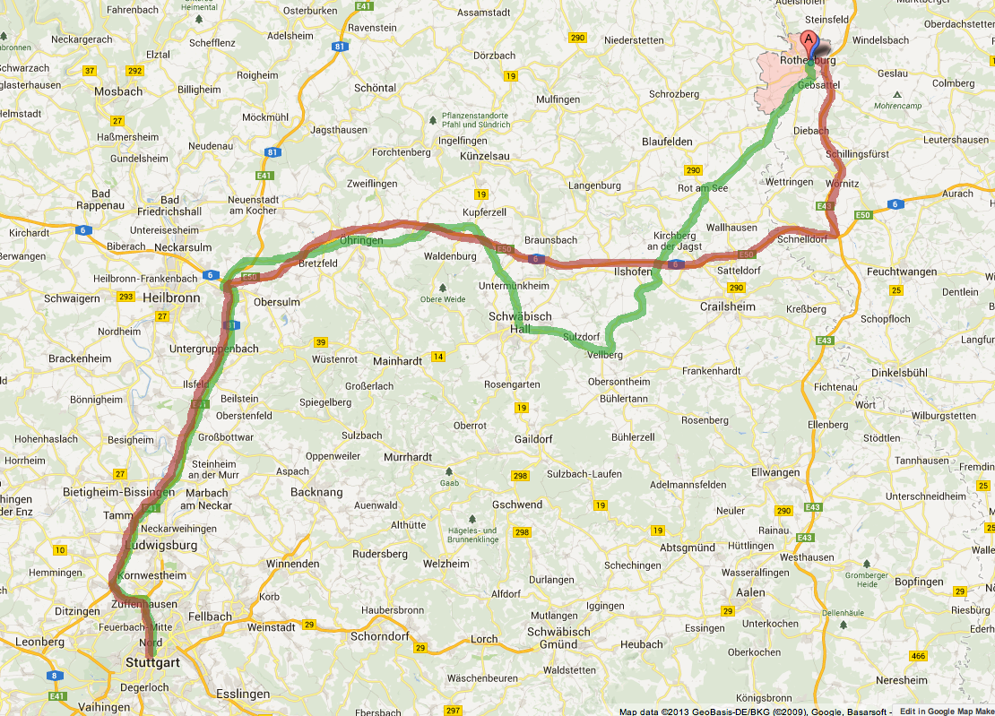 Castle Route Germany Map